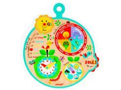 Календарь Времена Года (на английском языке), развивающая игрушка, Janod