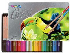 Карандаши цветные в металлической упаковке, серия Artist, 36 цветов, Colorino