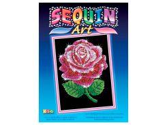 Картинка из пайеток Красная роза, Blue, Sequin Art