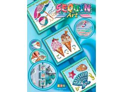 Картинка из пайеток Лето, Seasons, Sequin Art