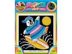Картинка из пайеток Пингвин, 60, Sequin Art