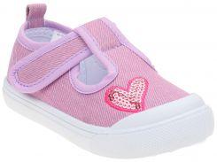 Кеды с сердечком для девочек, пурпурные, Lapsi (Arial) (23)