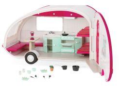 Кемпер на колесах розовый (свет), транспорт для кукол, Lori