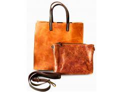 Кожаная сумка Carmen (marrone-chiaro), Dante Agostini