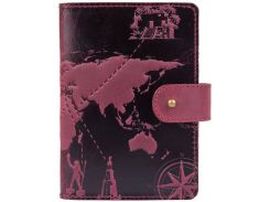 Кожаное портмоне HiArt PB-03S/1 Shabby Plum 7 wonders of the world (PB-03S/1-S19-1621-T002)