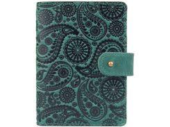 Кожаное портмоне для паспорта HiArt PB-03S/1 Shabby Alga Buta Art (PB-03S/1-S19-5920-T004)