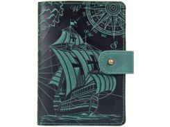 Кожаное портмоне для паспорта HiArt PB-03S/1 Shabby Alga Discoveries (PB-03S/1-S19-5920-T003)