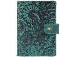 Кожаное портмоне для паспорта HiArt PB-03S/1 Shabby Alga Mehendi Art (PB-03S/1-S19-5920-T005)