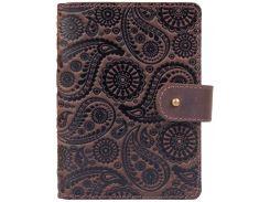Кожаное портмоне для паспорта HiArt PB-03S/1 Shabby Gavana Brown Buta Art (PB-03S/1-S19-1106-T004)