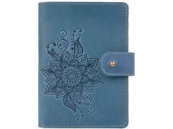 Кожаное портмоне для паспорта HiArt PB-03S/1 Shabby Lagoon Mehendi Classic (PB-03S/1-S18-4417-T006)