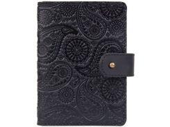 Кожаное портмоне для паспорта HiArt PB-03S/1 Shabby Night Buta Art (PB-03S/1-S19-4205-T004)