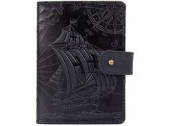 Кожаное портмоне для паспорта HiArt PB-03S/1 Shabby Night Discoveries (PB-03S/1-S19-4205-T003)