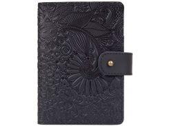 Кожаное портмоне для паспорта HiArt PB-03S/1 Shabby Night Mehendi Art (PB-03S/1-S19-4205-T005)