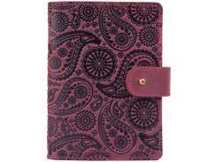 Кожаное портмоне для паспорта HiArt PB-03S/1 Shabby Plum Buta Art (PB-03S/1-S19-1621-T004)