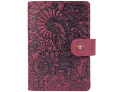 Кожаное портмоне для паспорта HiArt PB-03S/1 Shabby Plum Mehendi Art (PB-03S/1-S19-1621-T005)