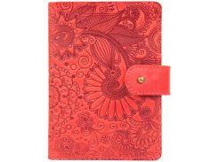 Кожаное портмоне для паспорта HiArt PB-03S/1 Shabby Red Berry Mehendi Art (PB-03S/1-S18-1440-T005)