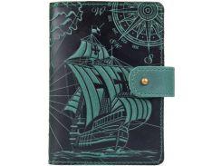 Кожаное портмоне для паспорта ID HiArt PB-02/1 Shabby Alga Discoveries (PB-02/1-S19-5920-T003)