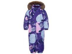 Комбинезон зимний для малышей Keira, Huppa, лиловый с принтом (92)