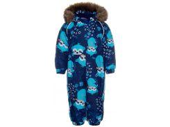 Комбинезон зимний для малышей Keira, Huppa, темно-синий с принтом (98)