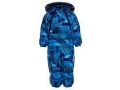 Комбинезон зимний для малышей Orion, Huppa, темно-синий с принтом (92)