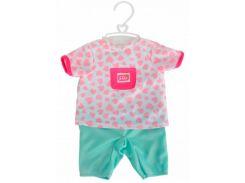Комбинезон с мятными штанишками и аксессуары для пупса 38-43 см, New Born Baby, Simba