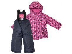 Комплект зимний (куртка, штаны) для девочки ZWG, Salve by Gusti, фуксия (116)