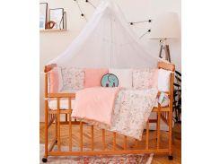 Комплект постельного белья для новорожденных Добрый Сон с защитой-бортиками Верона Фламинго (3-08/7)