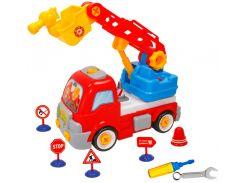Конструктор Пожарная машина с дорожными знаками, BeBeLino