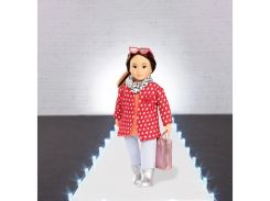 Красное пальто с узором, одежда для кукол, Lori