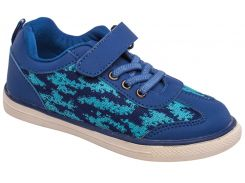 Кроссовки для девочек, голубые, Lapsi (Arial) (30)