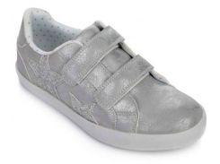 Кроссовки на липучках, серебро, Lapsi (Arial) (36)