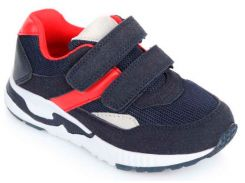 Кроссовки на липучках, синий с красным, Lapsi (Arial) (36)
