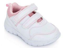 Кроссовки с перфорацией, бело-розовые, Lapsi (Arial) (26)