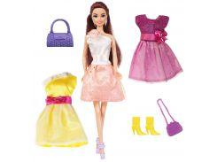 Кукла Ася, Яркий в моде, блондинка с 3 нарядами и аксессуарами, Ася