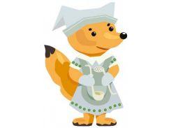 Кукла Лисица, Игровой набор для девочек из картона (одевай и играй), Умная бумага