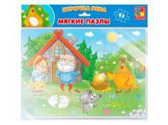 Курочка Ряба, мягкие пазлы А4, Vladi Toys