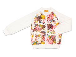 Куртка для девочки Flowers, Danaya, белая (140 р.)