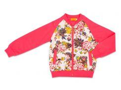 Куртка для девочки Flowers, Danaya, розовая (140 р.)