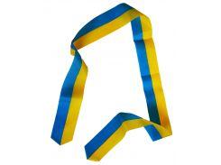 Лента атласная, желто-голубая (100 × 5 см)