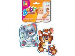 Лесные жители, магнитные Baby Puzzle (VT3208-03), Vladi Toys