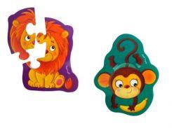 Львенок и Обезьяна, Магнитные Baby Puzzle, Vladi Toys