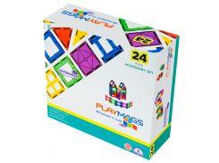 Магнитный конструктор 24 детали, Playmags