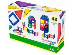 Магнитный конструктор 48 деталей, Playmags