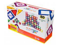 Магнитный конструктор 80 деталей, Playmags