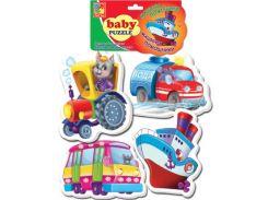 Машины-помощники, Baby Puzzle (VT1106-08), Vladi Toys