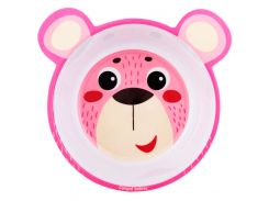 Мисочка из меламина, антискользящая с ушками, розовая, Hello Little, Canpol babies