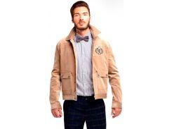 Мужская куртка вельветовая свободного кроя, беж, размер S, Dilovyi