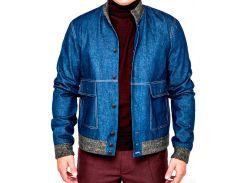 Мужская куртка джинсовая, синяя, размер S, Dilovyi