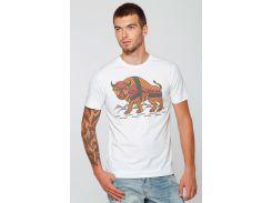 Мужская футболка Карпатский зубр, Диво, белая, М