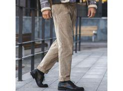 Мужские брюки вельвет, бежевые, размер M, Dilovyi